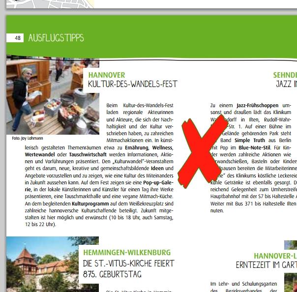 Info zum Kultur des Wandels-Netzwerks, Auszug aus Broschüre