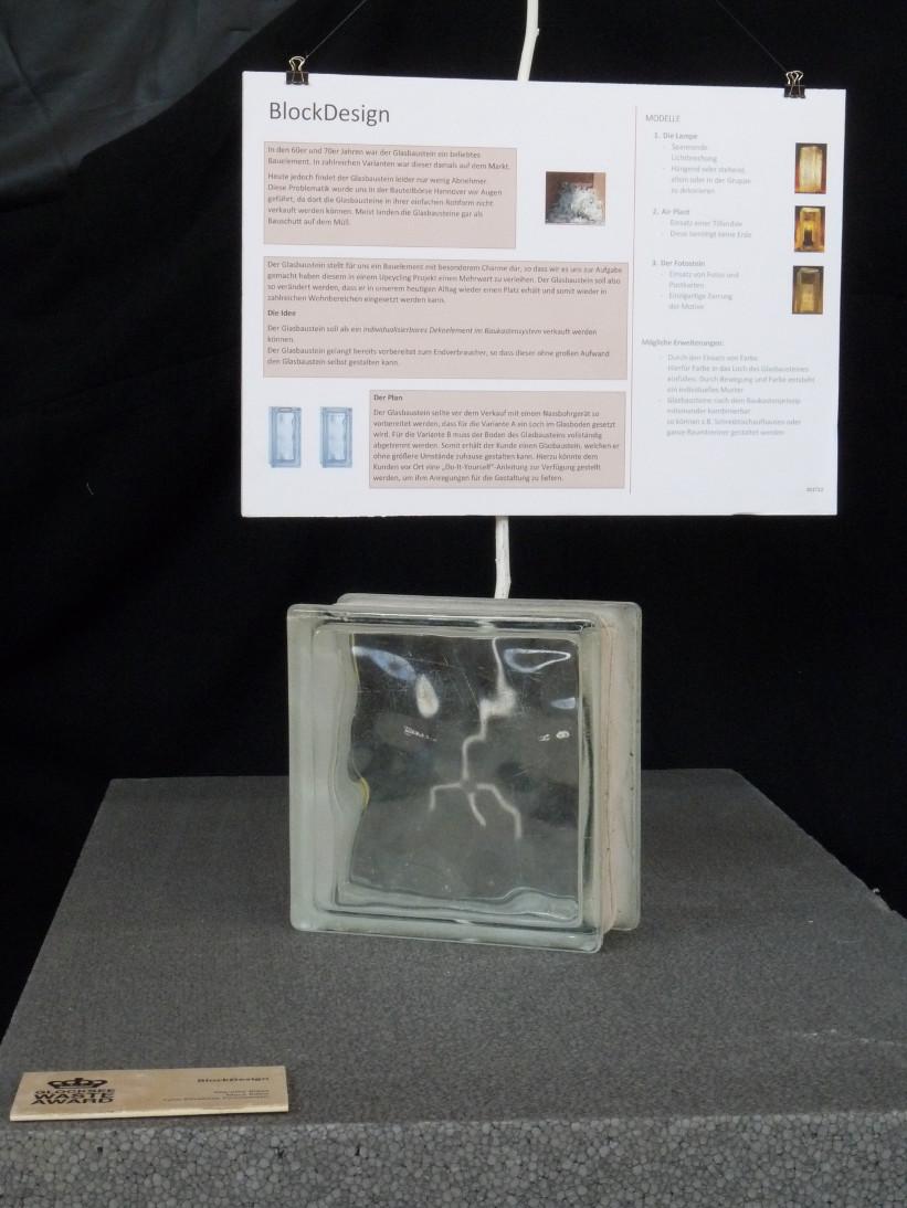 Upcycling, Nutzungsinnovation für Glasbausteine