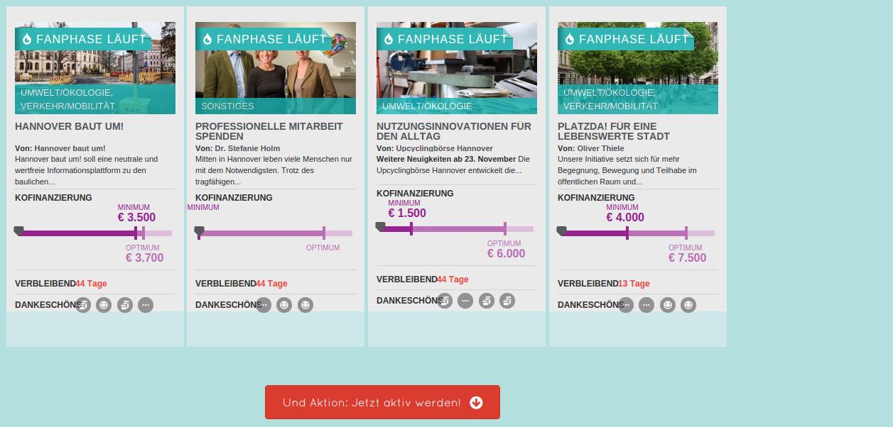 Crowdfunding Plattform HannoverMachen startet