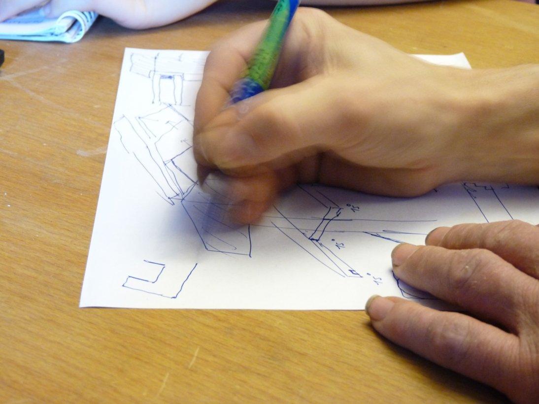 Upcycliongbörse Hannover - Skizze für ein neues Projekt