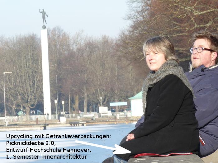 Picknickdecke 2.0, Upcyclingbörse Hannover