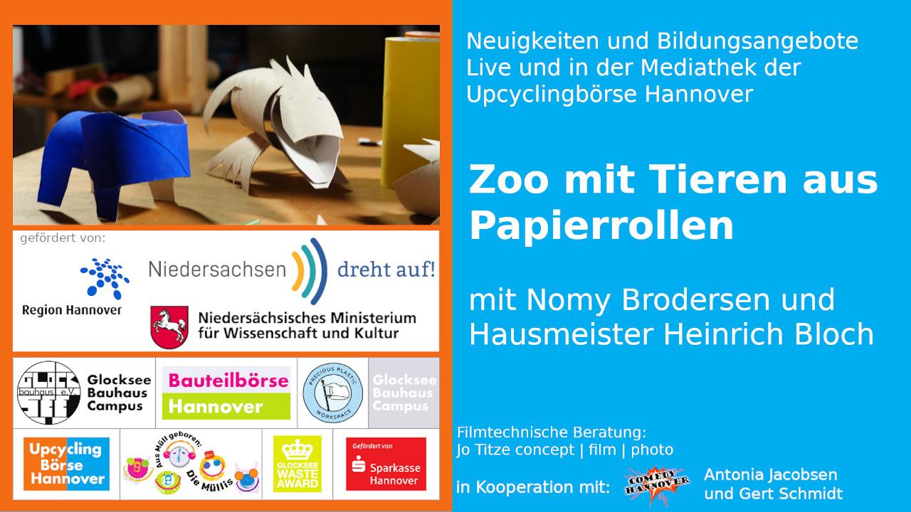 zoo - tiere - blauer elefant - toilettenpapierrolle-upcyclingboerse-hannover-glocksee-waste-award -