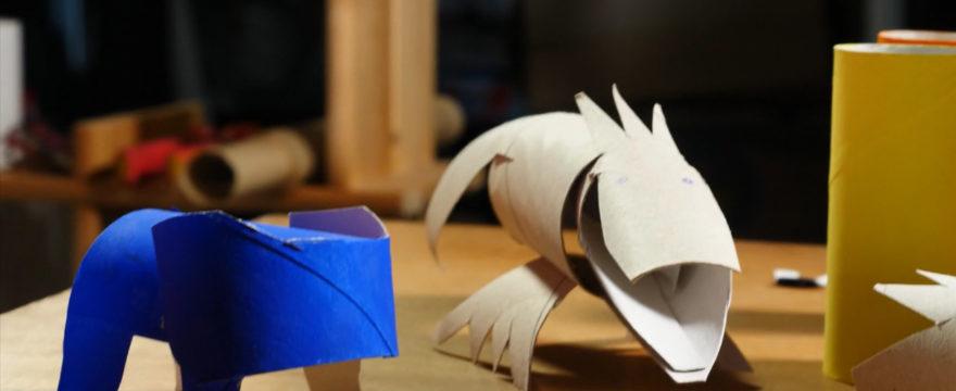 Film: Tiere aus Papprollen