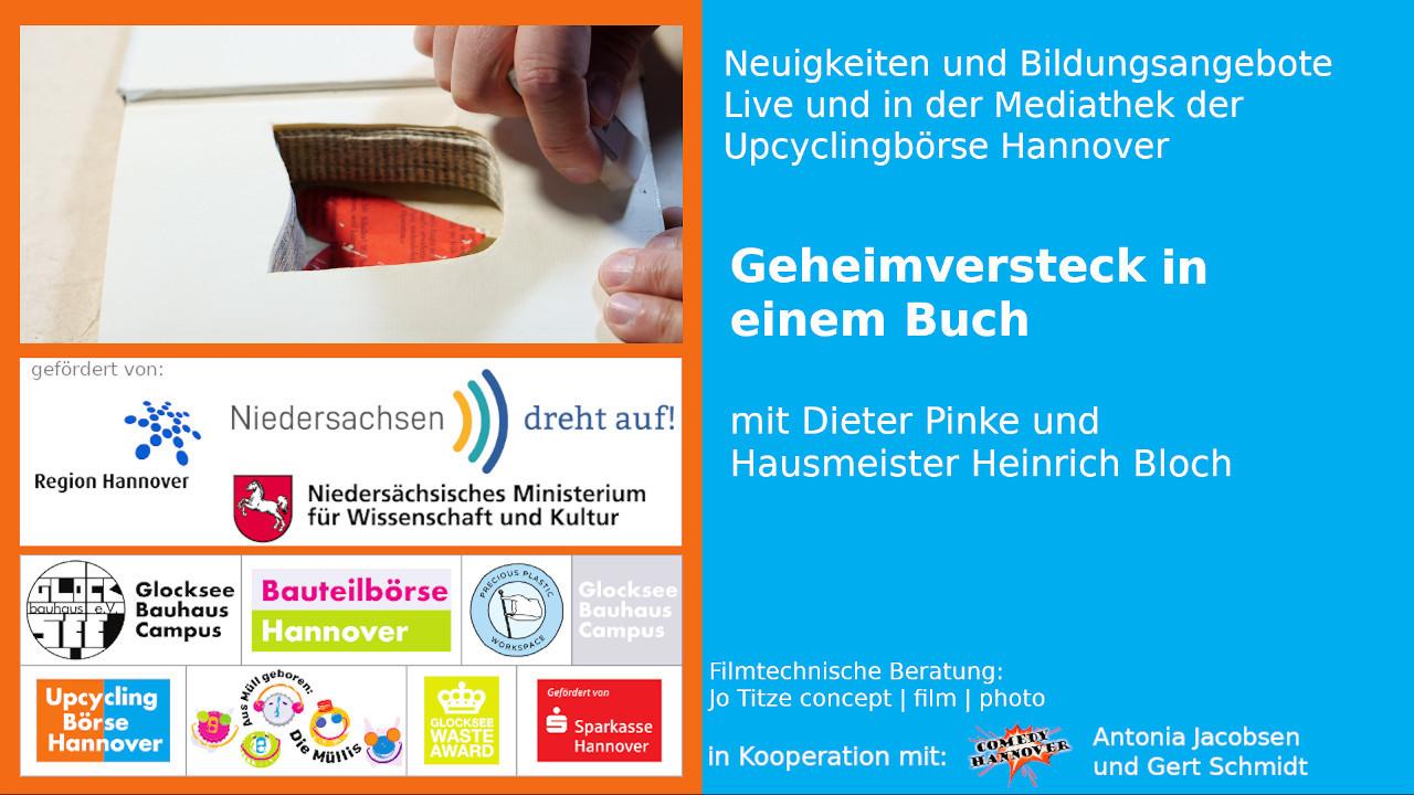 geheimversteck in einem Buch-upcyclingboerse-hannover-glocksee-waste-award - hausmeister - heinrich - bloch mit secret box