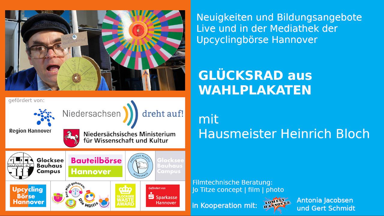 Glueckskreisel, hausmeister-heinrich-bloch-upcyclingboerse-hannover, niedersachsen dreht auf